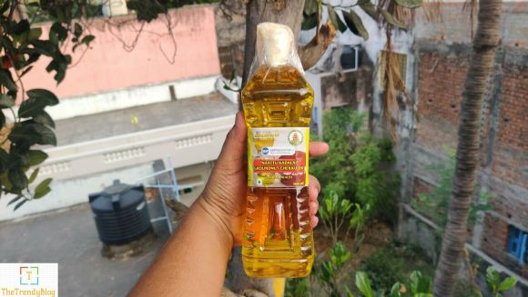 """Naatu kadalai"" Chekku Kadalai Ennai (Ground nut Chekku Oil)"