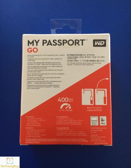 WD My Passport Go SSD Read speeds