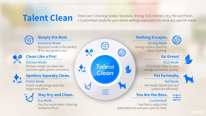 Hobot Leegee 688 cleaning modes