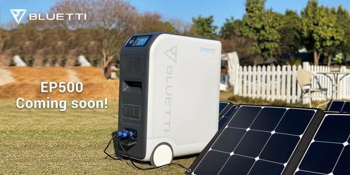 Bluetti-EP500-Solar-charging