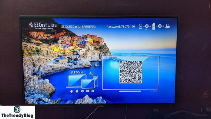 EZCast Ultra Default Screen