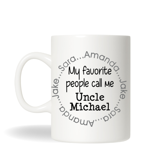 personalized uncle mug aunt