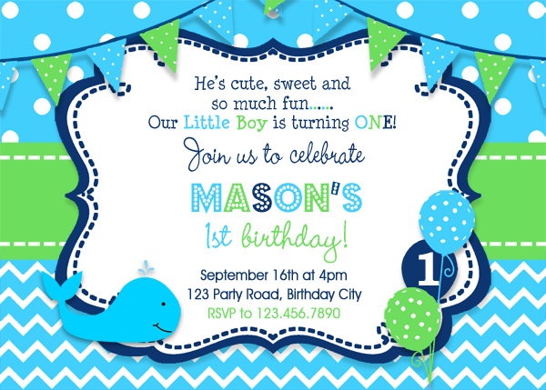 whale birthday invitation whale birthday party invitation boys birthday invitation whale party 1st birthday invitation 2nd birthday