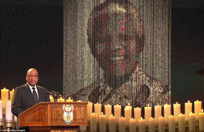 Praise: President Jacob Zuma said that Mandela was 'a fountain of wisdom, a pillar of strength and a beacon of hope'