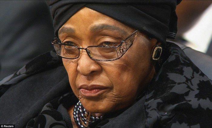 His former wife Winnie Mandela