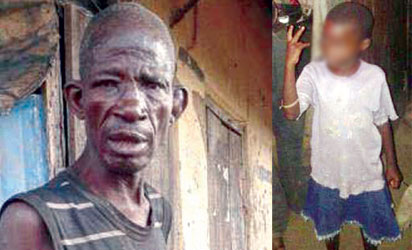 The rape suspect and the victim (Photo: Vanguard)