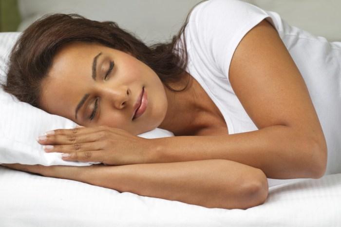night life stress woman sleeping sleep