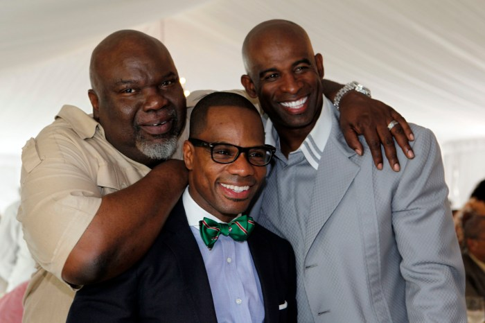 Bishop TD Jakes (left), Kirk Franklin (middle) and Deion Sanders Credit: TD Jakes