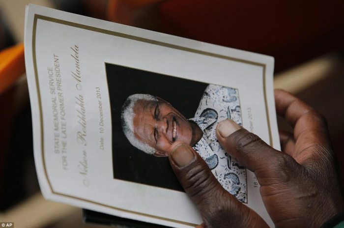 Programme: The events were scheduled to include talks by world leaders as well as tributes from Mandela's family