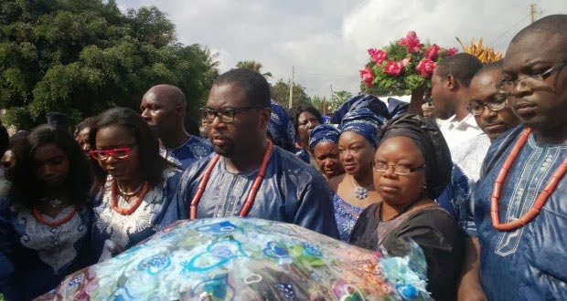 The family of Iyayi at the funeral of their father