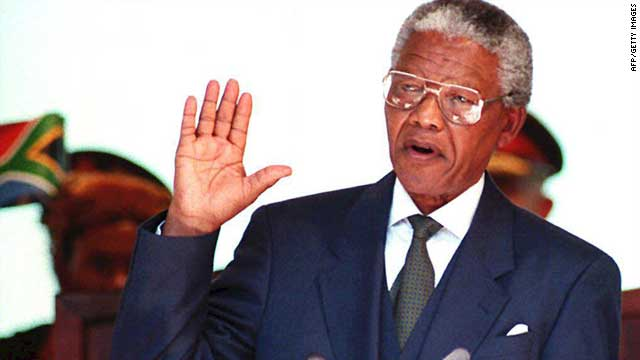 In May 1994, Mandela was sworn in as president of South Africa following a landslide victory in the country's first all-race general elections. He did not seek a second term and was succeeded by Thabo Mbeki in 1999.