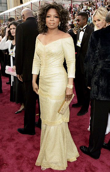 February 2005: Winfrey at the 2005 Academy Awards. (Photo Credit: KMazur/WireImage.com)