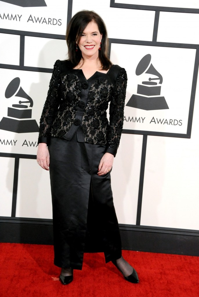 Best Jazz Vocal Album nominee Lorraine Feather arrives at the 56th Annual GRAMMY Awards on Jan. 26 in Los Angeles (Photo Credit: Steve Granitz/WireImage.com)