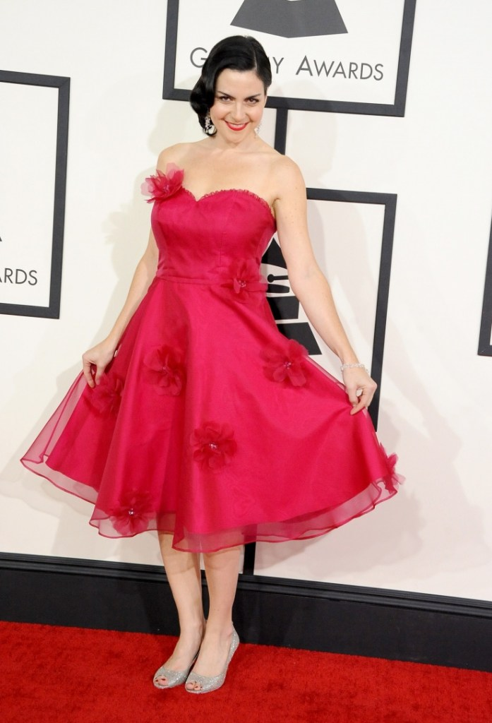 Best Children's Album nominee Jennifer Gasoi arrives at the 56th Annual GRAMMY Awards on Jan. 26 in Los Angeles (Photo Credit: Steve Granitz/WireImage.com)