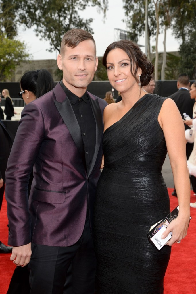 Best Dance Recording and Best Dance/Electronica Album nominee Kaskade and Naomi Raddon arrive at the 56th Annual GRAMMY Awards on Jan. 26 in Los Angeles (Photo Credit: Larry Busacca/WireImage.com)