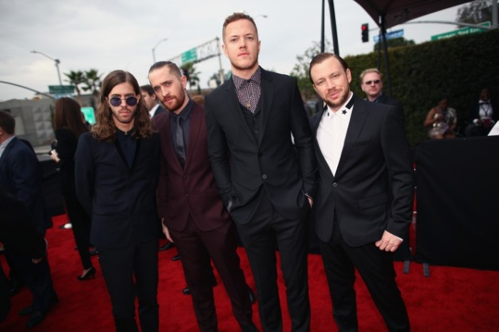 Imagine Dragons arrives at the 56th Annual GRAMMY Awards on Jan. 26 in Los Angeles (Photo Credit: Christopher Polk/Getty Images)