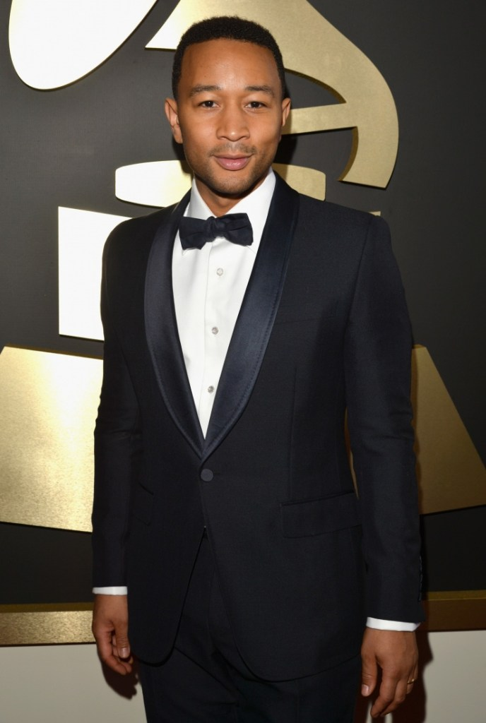 Best R&B Album nominee John Legend arrives at the 56th Annual GRAMMY Awards on Jan. 26 in Los Angeles (Photo Credit: Lester Cohen/WireImage.com)