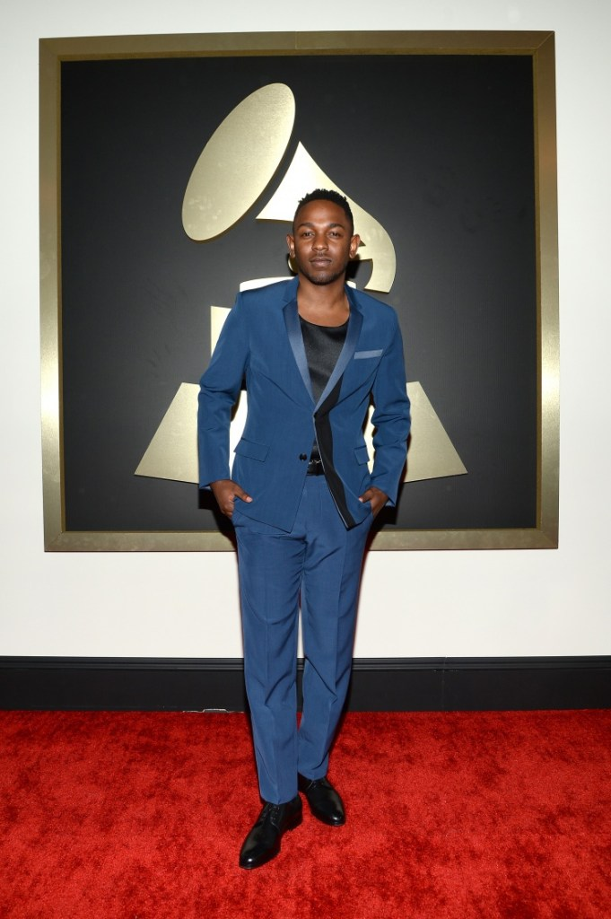 Kendrick Lamar arrives at the 56th Annual GRAMMY Awards on Jan. 26 in Los Angeles (Photo Credit: Larry Busacca/WireImage.com)