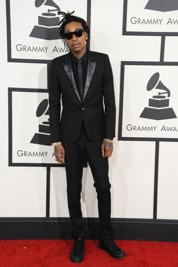 Whiz Kalifa arrives at the 56th Annual GRAMMY Awards on Jan. 26 in Los Angeles (Photo Credit: Larry Busacca/WireImage.com)