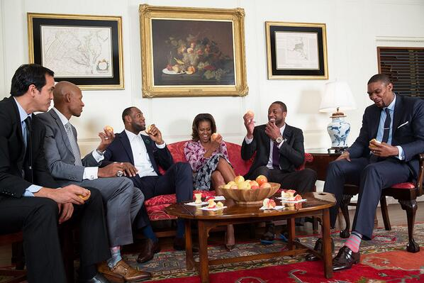 Michelle Obama WIth Ballers The Trent