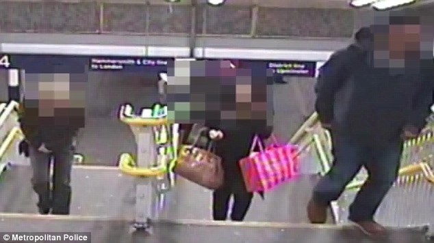 CCTV footage obtained by police after the attack showed a figure in a niqab following her as she left work at the Westfield shopping centre in Stratford at around 11.30pm (Photo Credit: Daily Mail UK)