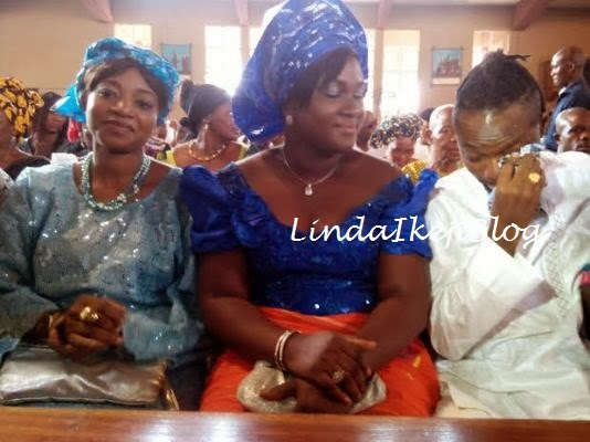 OJB Jezreal with his frist wife Mabel and third  wife Korede.