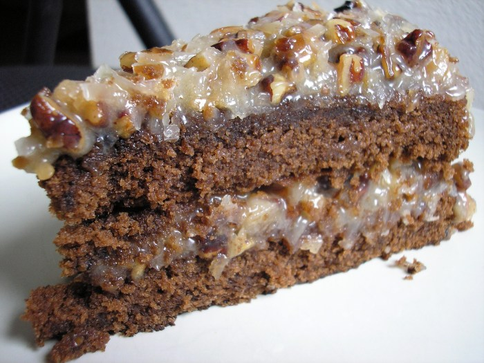 Another variety of German chocolate cake