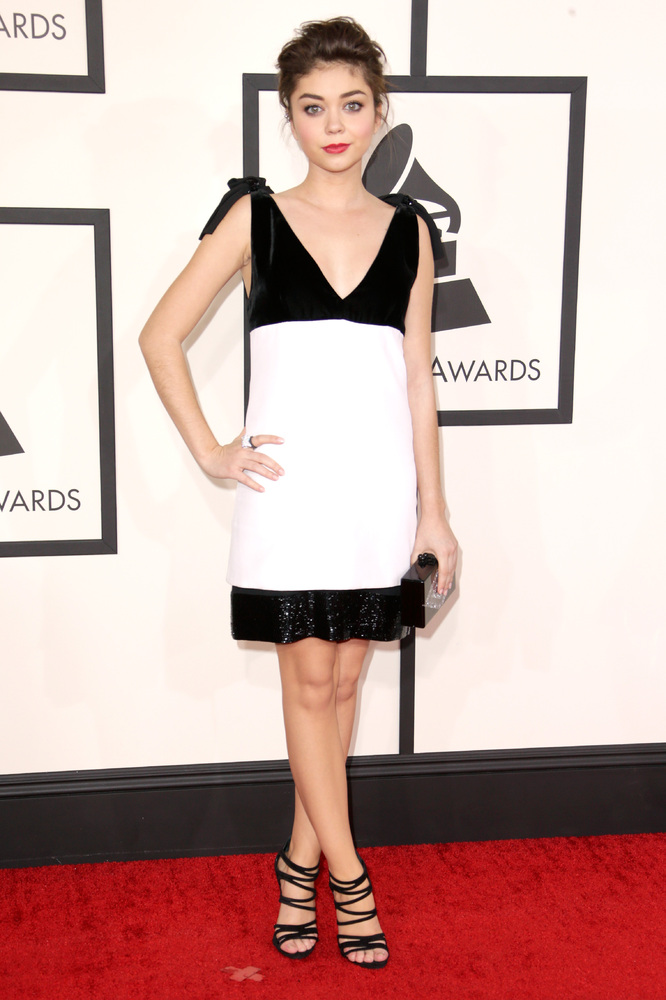 Sarah Hyland in Emilio Pucci and Jimmy Choo
