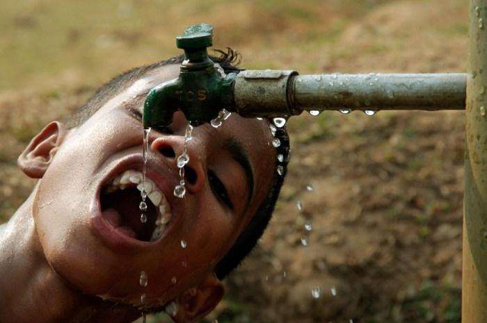 water child drinking