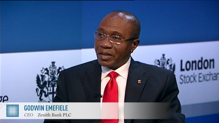 CBN governor Godwin Emefiele at his Senate confirmation hearing
