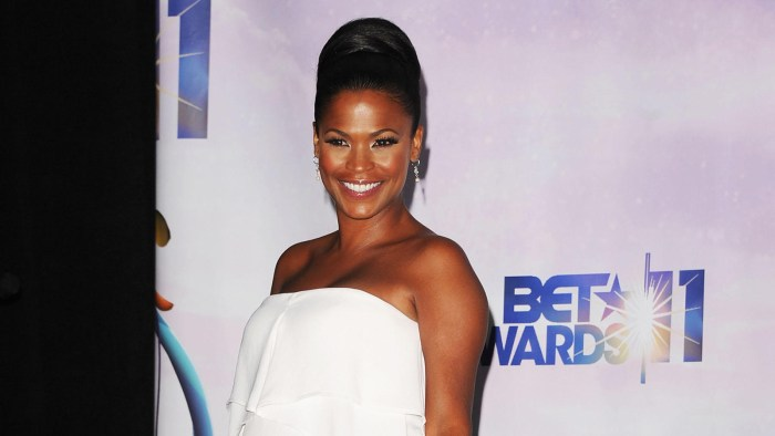 Nia Long poses in the press room at the BET Awards '11 held at the Shrine Auditorium on June 26, 2011 in Los Angeles, California.