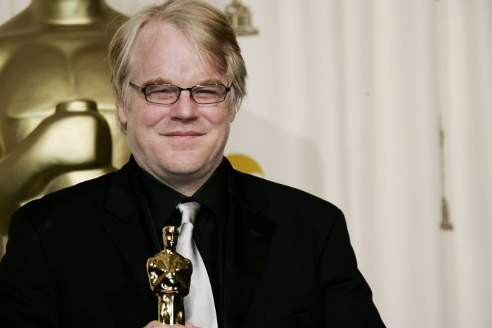 "In a Sunday, March 5, 2006, file photo, actor Philip Seymour Hoffman poses with the Oscar he won for best actor for his work in ""Capote"" at the 78th Academy Awards, in Los Angeles.   Police say  Hoffman has been found dead in his  apartment. (Photo Credit: AP Photo/Kevork Djansezian, File)"