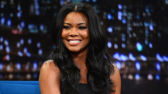 "Gabrielle Union visits ""Late Night With Jimmy Fallon"" at Rockefeller Center on January 7, 2014 in New York City."