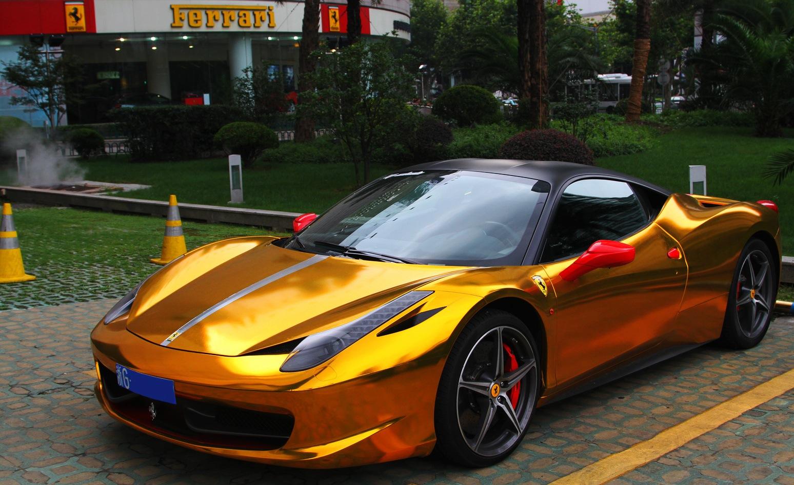 Download Gold Ferrari Wallpaper  Pictures