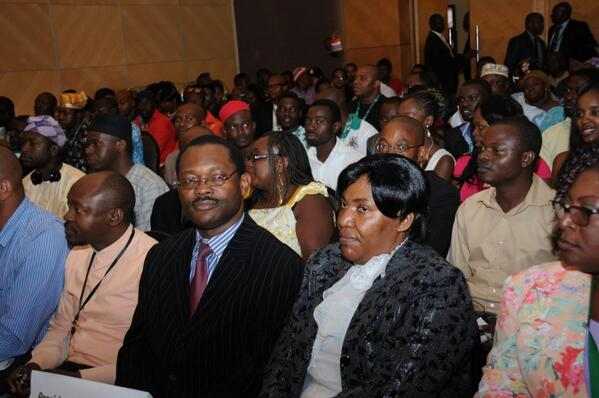 Nigerians at a meeting btw President Jonathan & the Nigerian community in Namibia yday in Windhoek.