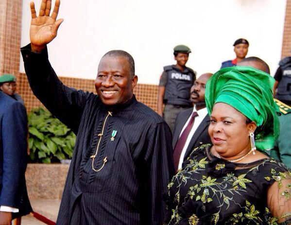 President Jonathan and the 1st Lady at the Interdenominational service marking Nigeria's centenary