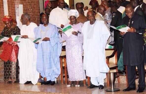 President Jonathan and other worshippers at the  Interdenominational service marking Nigeria's centenary