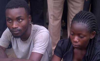 Suspected cultists, Mary Awolola and male member