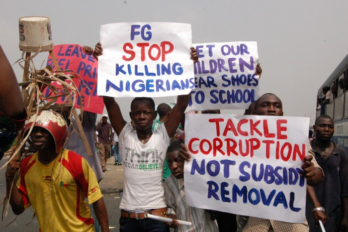 File Photo from 2012 Occupy Nigeria protests
