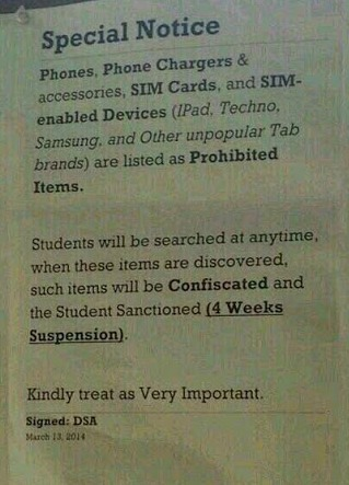 Special notice to Covenant University Students
