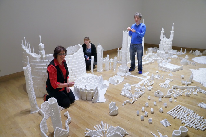 Completing the Northern Ireland version of Sugar Metropolis in November 2013 (Photo Credit: Project On Kickstarter)