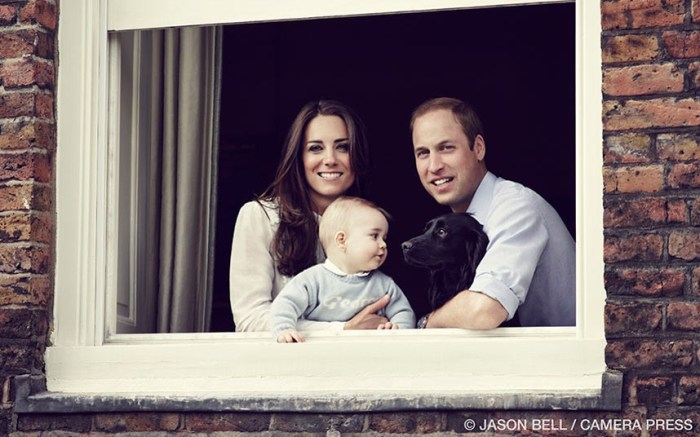 The Duke and Duchess of Cambridge with their son Prince George photographed at Kensington Palace (Photo Credit: Jason Bell/ Camera Press)