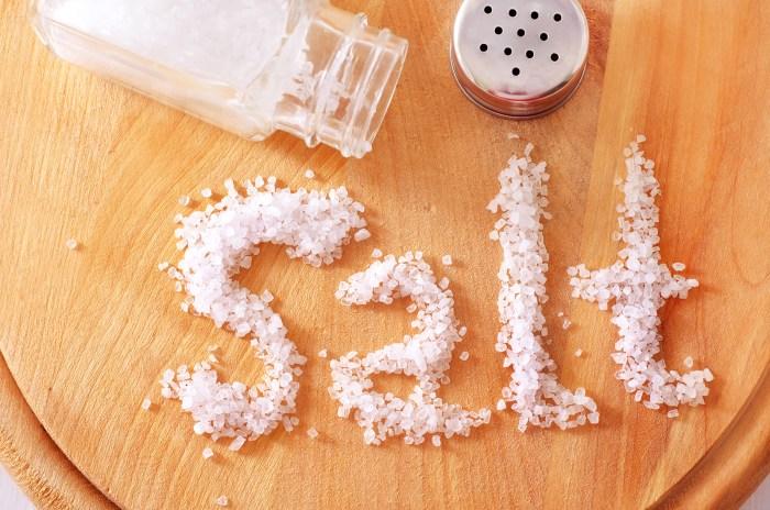 Salt, Food