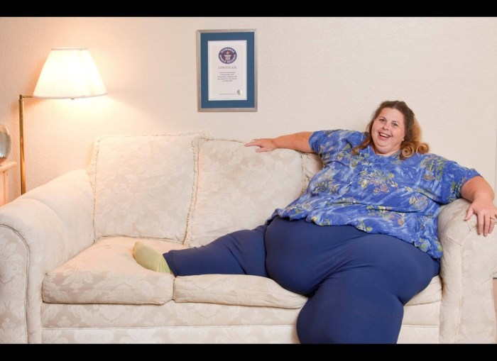 Pauline Potter - Heaviest Woman Guinness World Records 2011 (Photo Credit: Ryan Schude/Guinness World Records)
