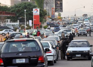 NNPC A petrol station during fuel scarcity in Abuja tanker