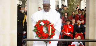 General Yakubu Gowon at a wrealth laying ceremony in an undated photo