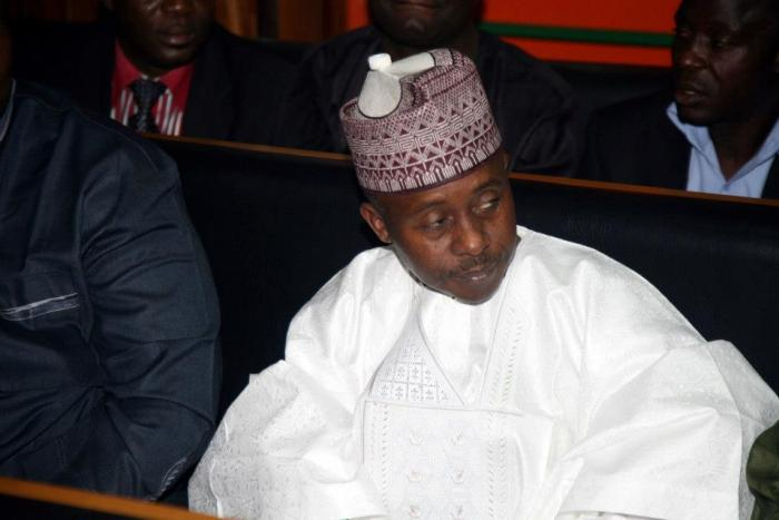 Farouk Lawan, the honourable member of the House of Reps  who was later charged for bribery and corruption over extortion of and oil company during his chairmanship of the House Committee reviewing fuel subsidy payments