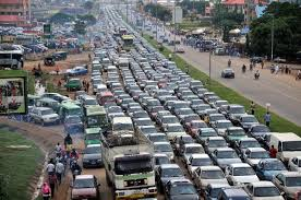 Snapshot of the traffic hold-up on Nyanya Road (Photo Provided by Author)