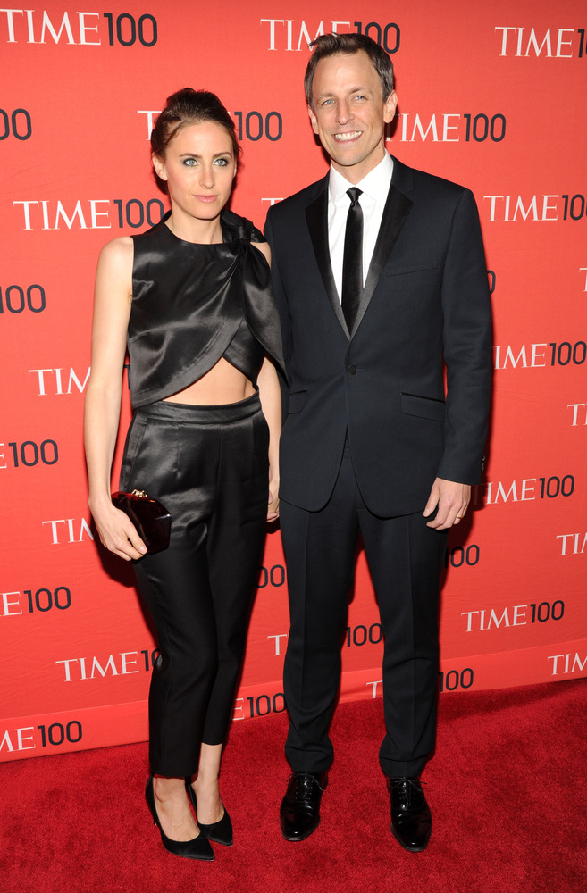 Alexi Ashe and Seth Meyers (Photo Credit: Getty Images)