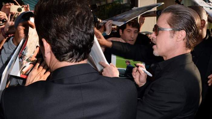 Actor Brad Pitt attends the World Premiere of Disney's